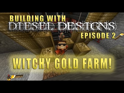 Building with Diesel! Ep.2: Witchy GOLD Farm! (Survival)