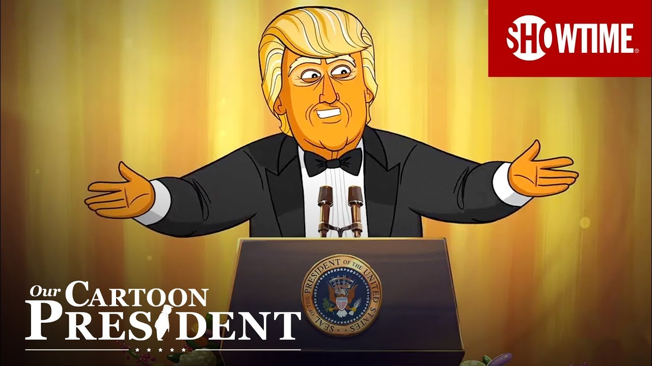 Colbert's Cartoon Trump Gives The WHCA Speech The Real President