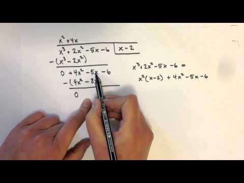 Polynomdivision - för att lösa ekvationer av högre grad