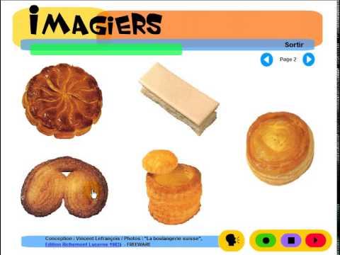 學法語 # Imagiers = Vocabulaire = La pâtisserie suisse #3