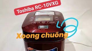 Nồi cơm điện cao tần áp suất Toshiba RC-10VXG 1.0L nội địa Nhật Bản mới 95%