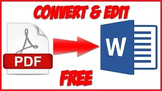 pdf to word converter and editor