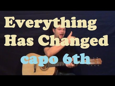 Everything Has Changed (Taylor Swift) Guitar Lesson Easy How to Play ...