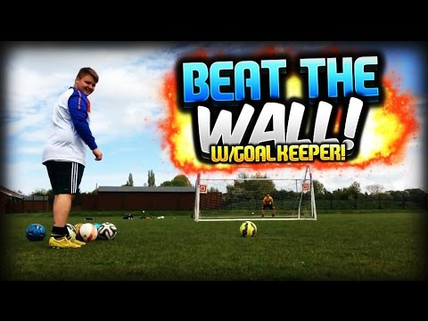 irl football free kicks quotbeat the wall amp keeperquot ft