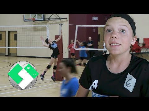 🏐 Club Volleyball Tryouts! | Clintus.tv