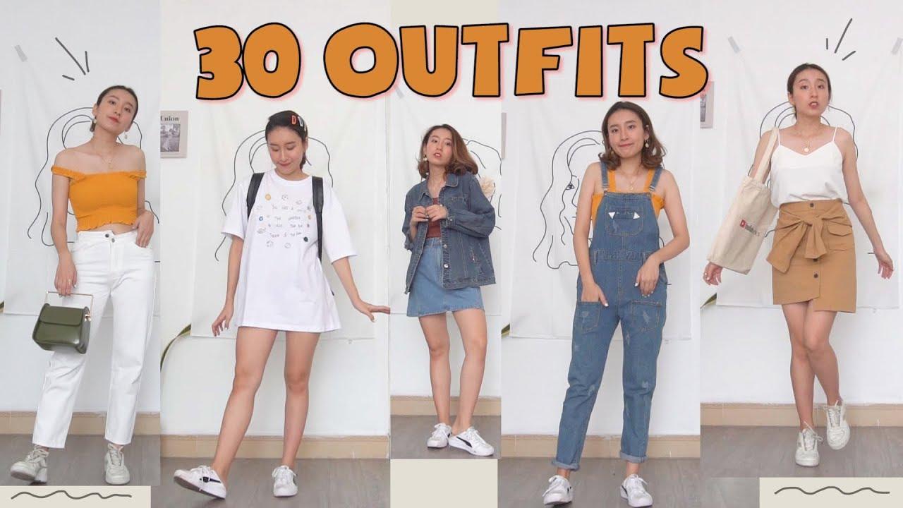 30 GỢI Ý MẶC ĐỒ KHI BẠN KHÔNG CÓ GÌ ĐỂ MẶC | 30 outfits ideas | PhuongHa