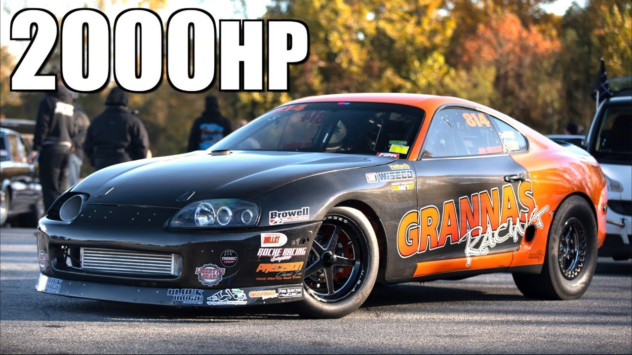 "2000HP Toyota Supra Breaks RWD Stick Shift Record - ""The Road to 6 Seconds"""