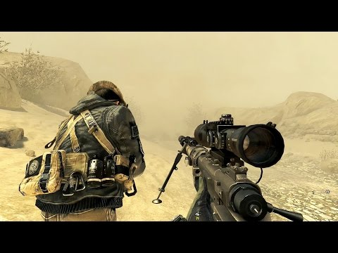 Call of Duty Modern Warfare 2 Sniper Mission Gameplay HD