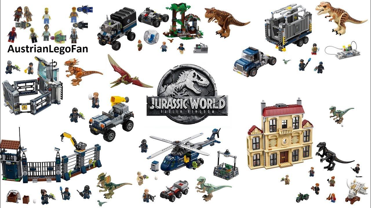 All Lego Jurassic World Fallen Kingdom Sets 2018 Lego Speed