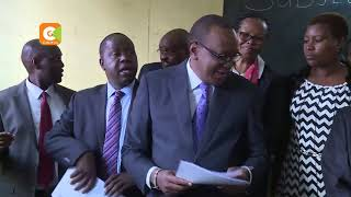 Uhuru surprises KCPE candidates in Westlands Primary School