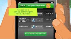 Groupama iPhone app - insurance customer service