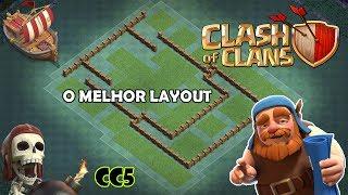 O MELHOR LAYOUT PARA CC5/BH5 - CLASH OF CLANS (BASE DO CONSTRUTOR)