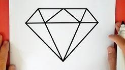 Wie zeichnet man ein Diamant (leicht)