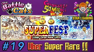 The Battle Cats *SUPERFEST* 11 Rare Cat Capsule Openings - Check out my lucky day - UBER SUPER RARES