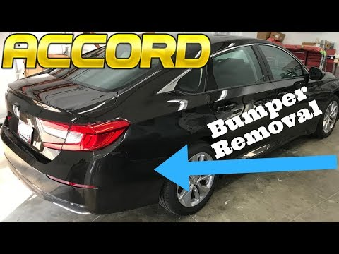 2018 Honda Accord Rear Bumper Removal How to Remove Replace Install