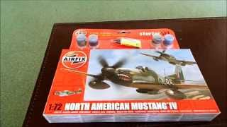 In box review of Airfix Mustang Mk IV  kit no:A55107 1/72