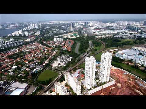 Aerial view of Clementi, Singapore