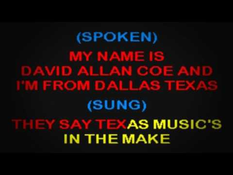 SC2324 03   Coe, David Allan   Waylon, Willie & Me [karaoke]