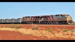Iron Ore Trains Tom Price Railway Western Australia October 2014
