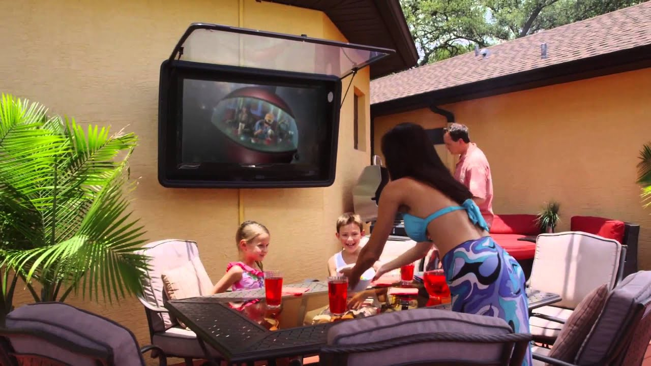Waterproof And Vandal Resistant Outdoor TV Enclosure   YouTube