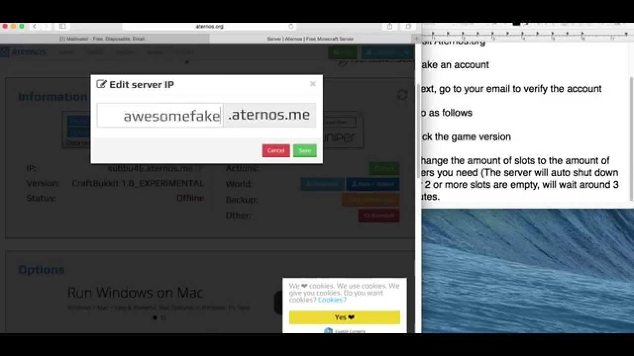 How to make a FREE minecraft server (Aternos) - YouTube
