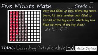 6th Grade Math Describing Parts of a Whole