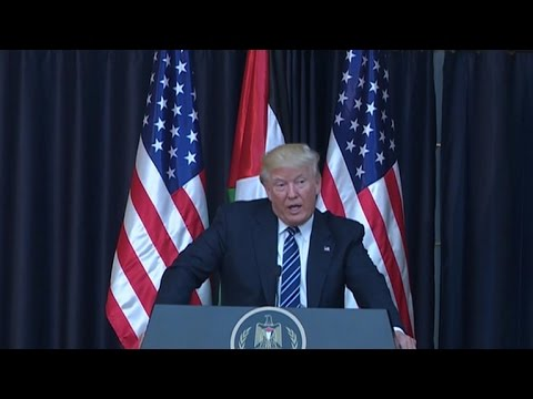"""Trump """"committed"""" to peace deal between Israel and Palestine"""
