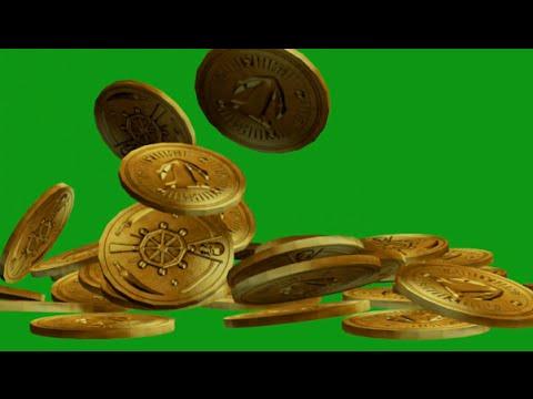 Falling Gold Coins - Green Screen