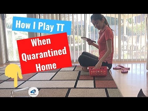 How I Play Table Tennis At Home