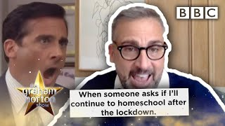 Steve Carrell can't believe the lockdown memes reaction 😂 | The Graham Norton Show - BBC
