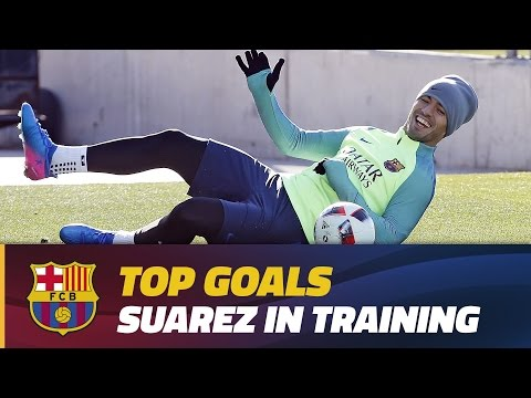 Training session goals: Luis Suárez