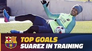 Training session goals: Luis Suárez