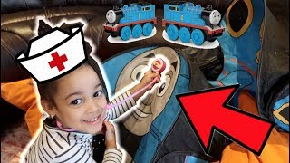 Toy Doctor Saves Broken Thomas The Train