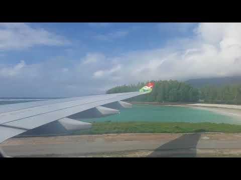 Air Seychelles A330-200 landing Mahé Victoria