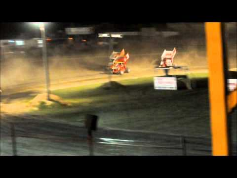 Sprint Cars of New England Triple Crown at Canaan Dirt Speedway 9-2-11