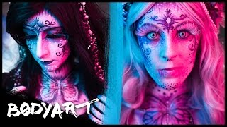 Magical BUTTERFLIES || with KUPFERFUCHS || FACEPAINTING || 4K
