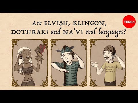 Are Elvish, Klingon, Dothraki and Na