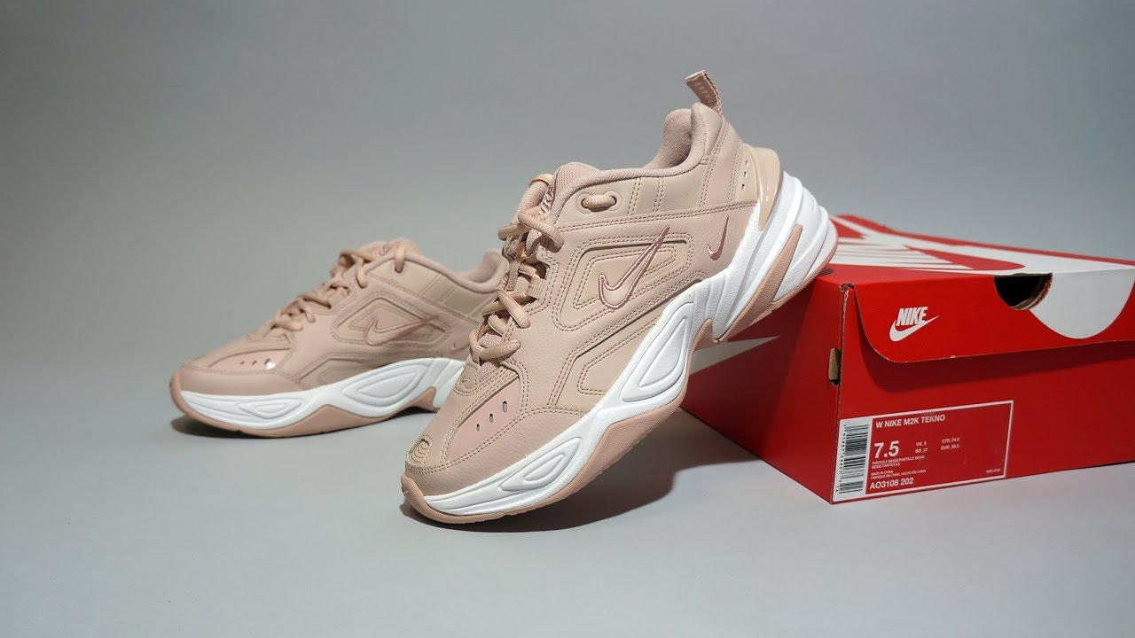 finest selection 41f36 52e51 Nike M2K Tekno Particle Beige Summit White AO3108 202