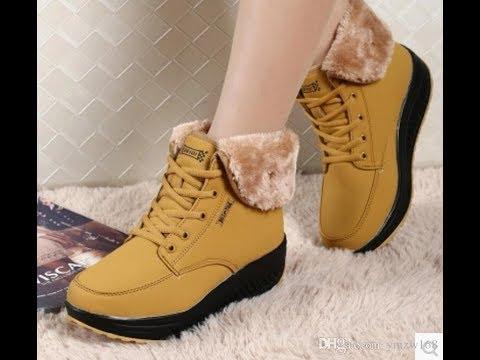 7cba112be Winter Shoes For Women 2018   أحدية شتاء للبنات موضة 2018 - YouTube