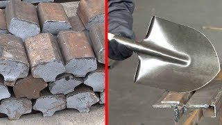 Amazing Production Shovels From Rail Steel, Most Satisfying Manufacturing Processes On Another Level
