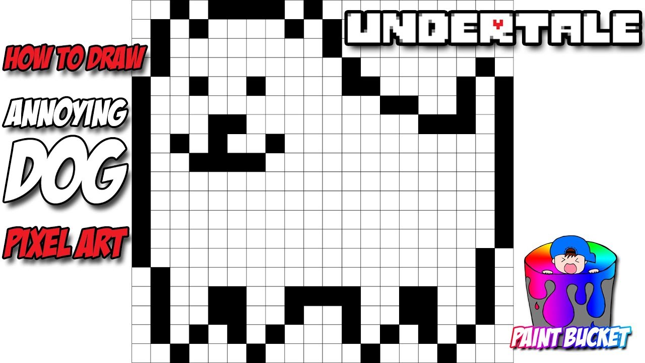 How To Draw Undertale S Annoying Dog 8 Bit Pixel Art Drawing Lesson