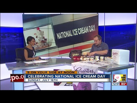Celebrating National Ice Cream Day on 9 On Your Side at Noon