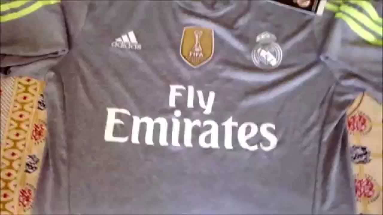 f87e4e741 Real Madrid 2015 16 Away Kit Unboxing + Club World Cup Badge - YouTube