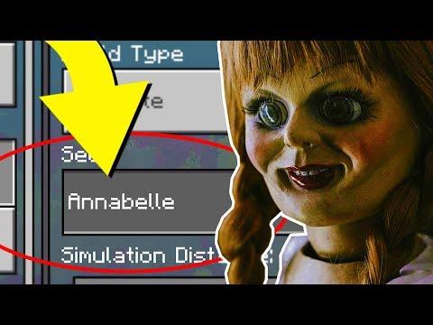 "Minecraft ""ANNABELLE"" World (Scary Annabelle Doll 3AM Challenge Minecraft Seed)"