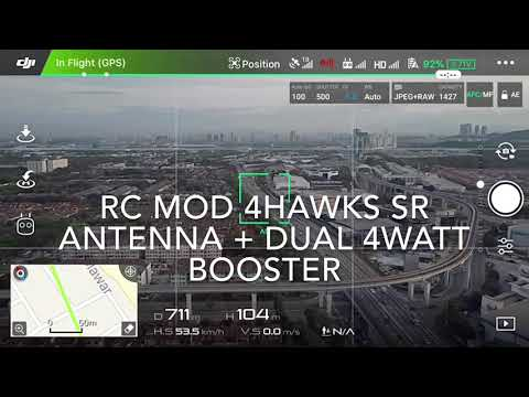 DJI Mavic Pro RC mod range test in urban area. 4Hawks win!
