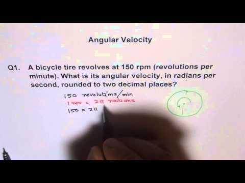 RPM to Angular Velocity of Cycle Wheel