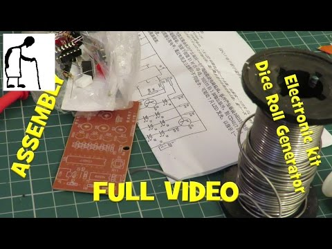 Assembling a Electronic kit Dice Roll Generator FULL VIDEO