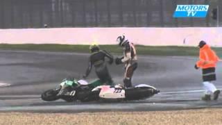 An unusual crash for two race bikes Remix (motorsTV)