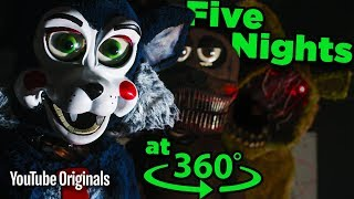 Don't SCREAM! Surviving Five Nights at Candy's - Game Lab 360 Video(This is a 360 video experience. So if you're on desktop, click and drag your mouse around the screen. If you're on a phone or tablet, move the screen around ..., 2016-06-29T16:05:44.000Z)