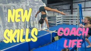 Coach Life: New Gymnastics Skills!!| Rachel Marie